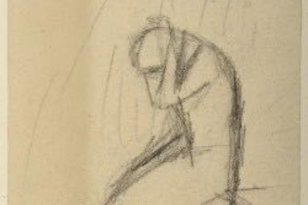 Elizabeth Siddal, A Kneeling Woman Image